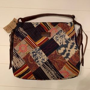 NEW Lucky Brand Patchwork Bag